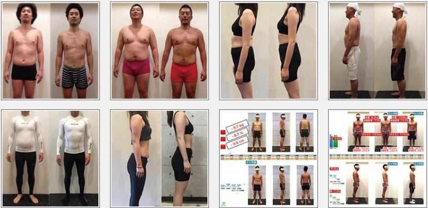 g-zone fitness(ジーゾーンフィットネス)のトレーニング実績1