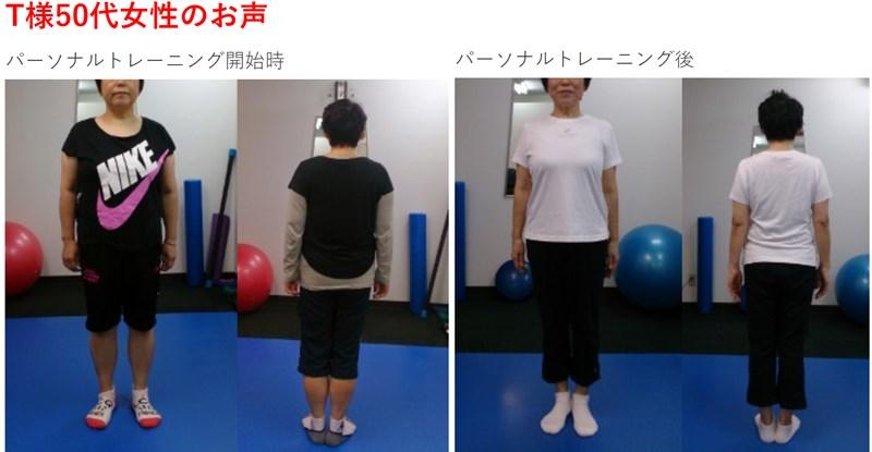 ダイエットスタジオくびれ美人のトレーニング実績1
