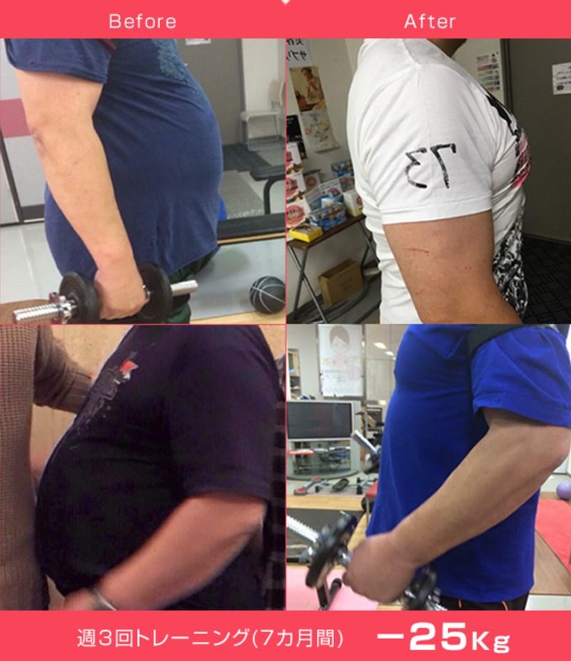 ダイエットスタジオPBクラブのトレーニング実績1