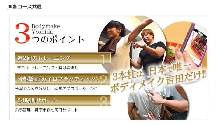 Bodymake Yoshida(ボディメイク ヨシダ)の特徴1